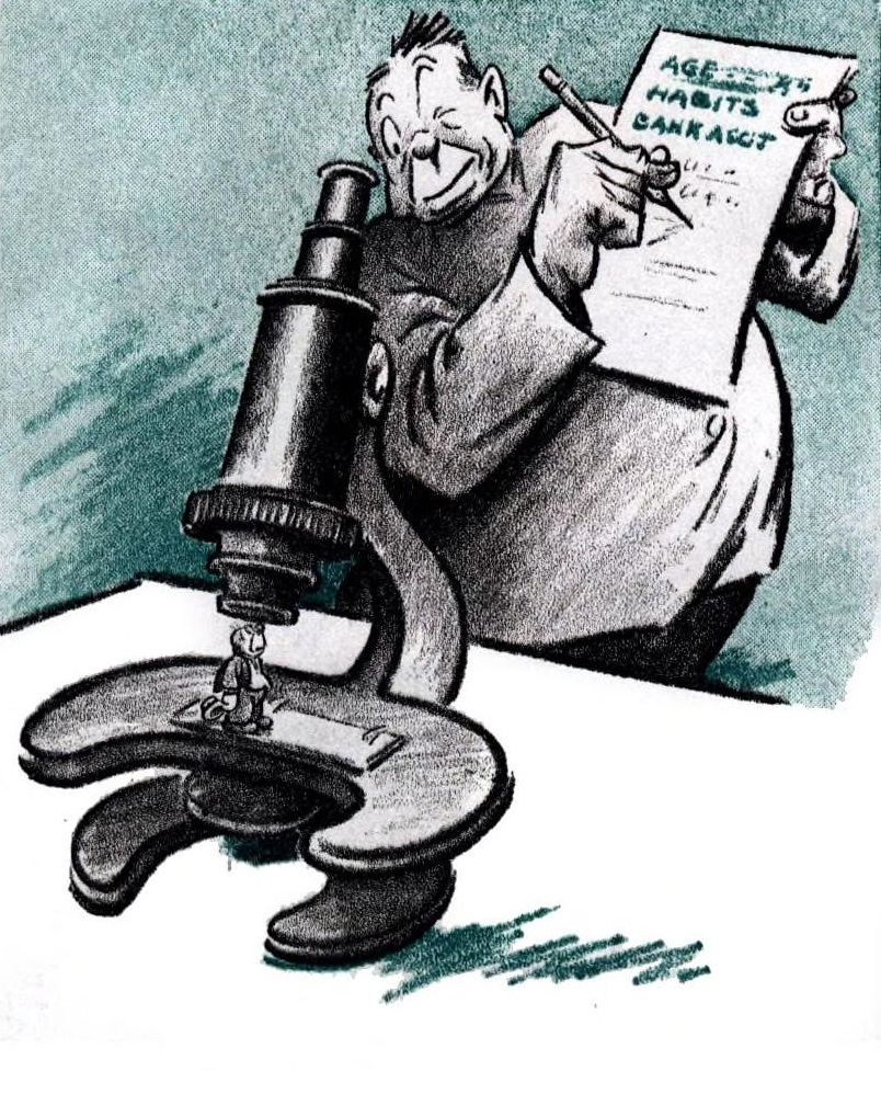 file harold talburt cartoon 1936 man looking through microscope at smaller man jpg wikimedia commons https commons wikimedia org wiki file harold talburt cartoon 1936 man looking through microscope at smaller man jpg