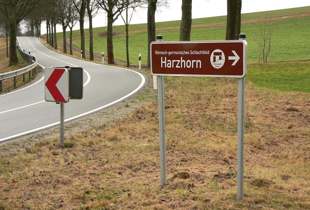 Die Straße am Harzhorn
