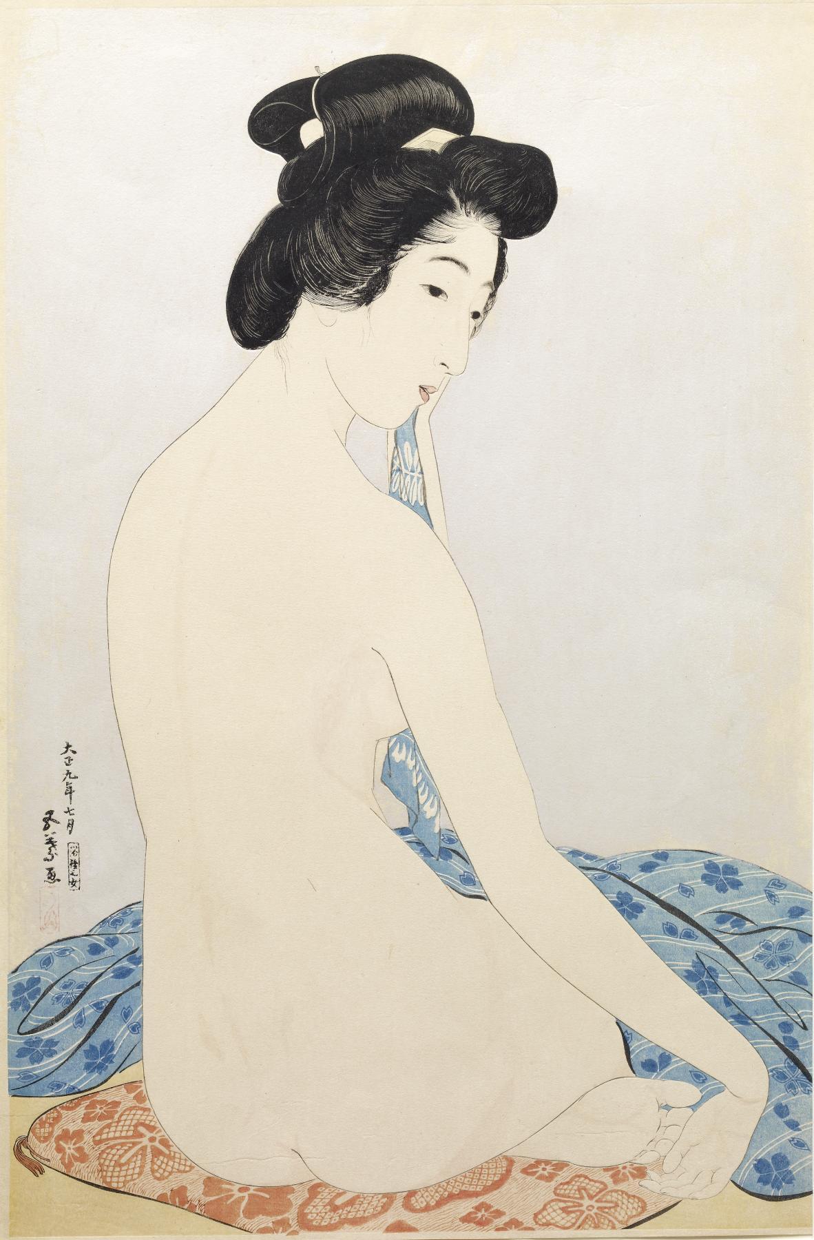 Hashiguchi Goyo - Woman after the Bath (Yokujo no Onna) - Walters 95881.jpg