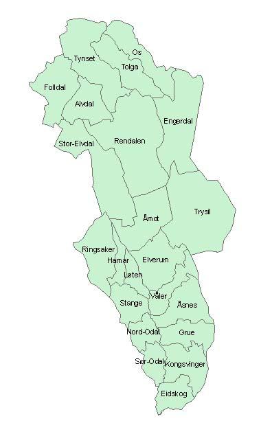 åsnes kommune kart Hedmark   Wikipedia åsnes kommune kart