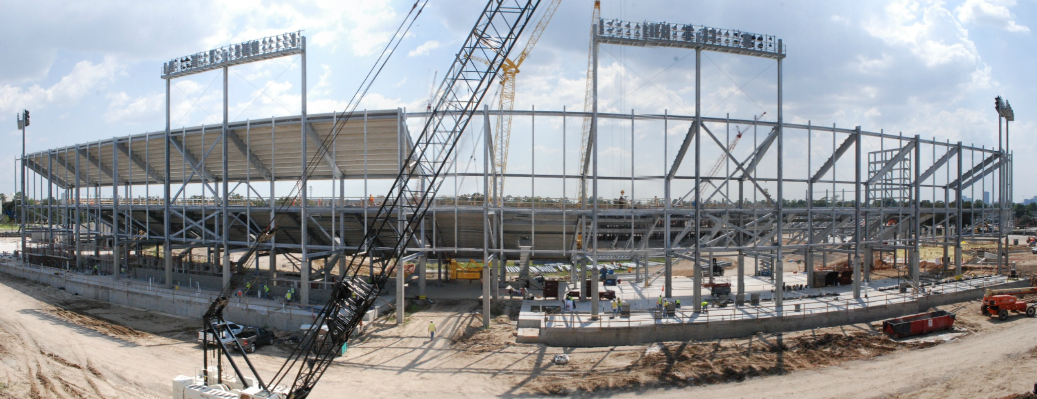 File houston football stadium north side stands for Construction stand