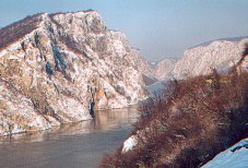 Đerdap gorge, Serbia, overlooking the Carpathians