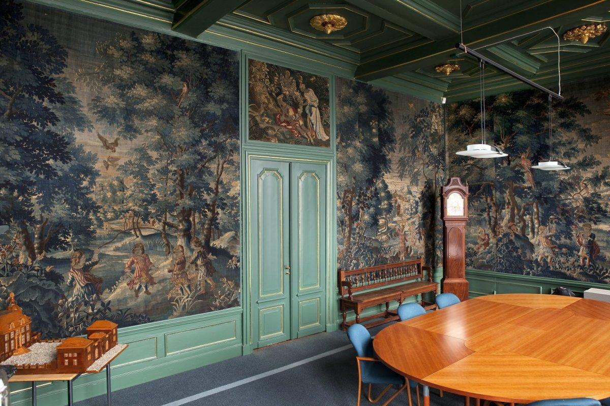 File interieur overzicht van de blauwe kamer gezien vanaf de schouw oegstgeest 20427569 - Blauwe kamer ...