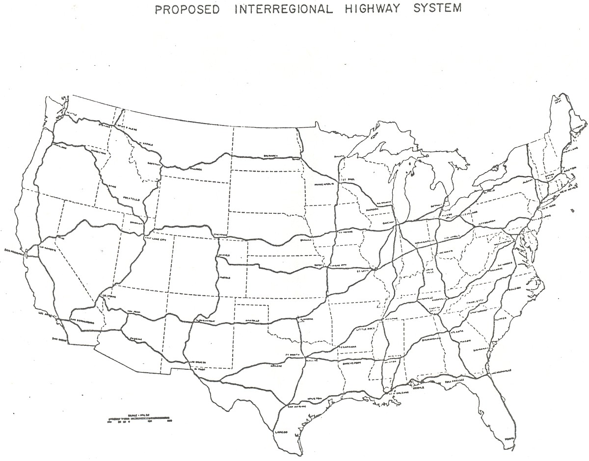 FileInterregional Highway Plan Jpg Wikimedia Commons - Printable us map with highways