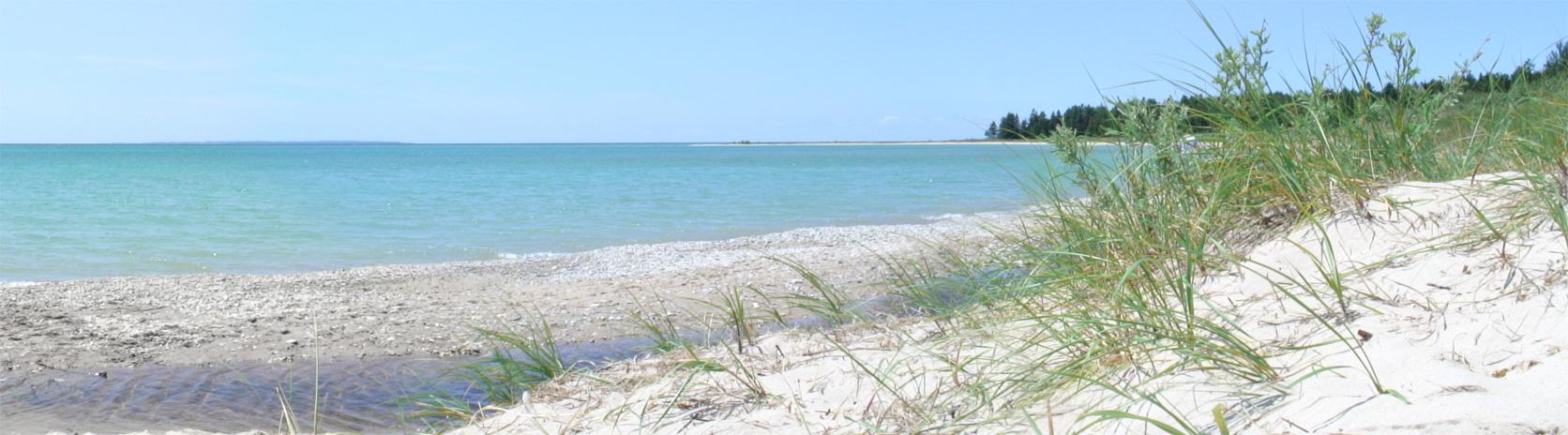 Iron Ore Bay on Beaver Island.