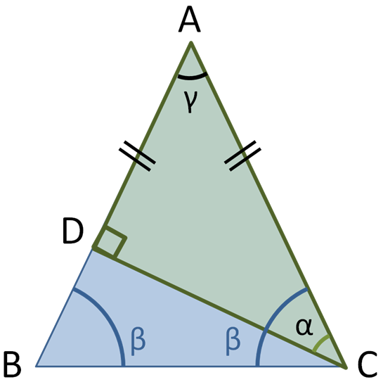 Right Angle Base : Geometry isosceles triangle with equal sides ab ac