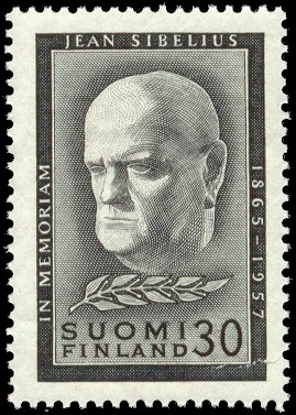 English: Postage stamp depicting Finnish compo...