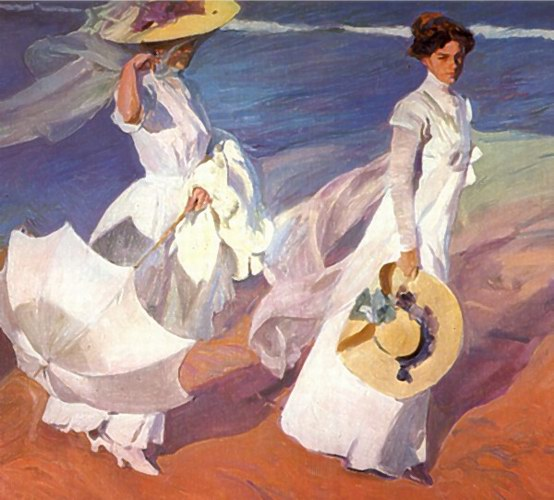 Joaquin Sorolla Walk on the Beach