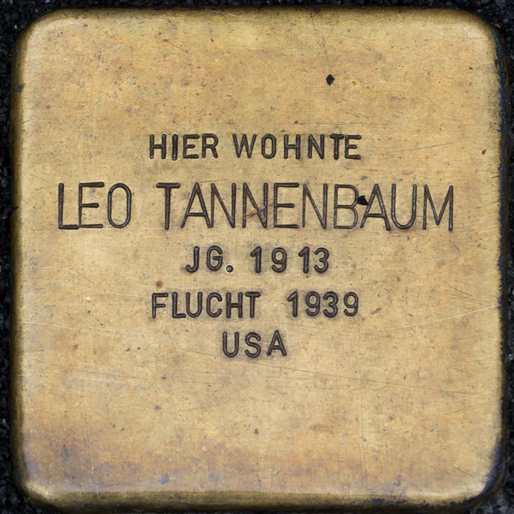 Kronach - Stolperstein Leo Tannenbaum (Friesener Straße 21).jpg