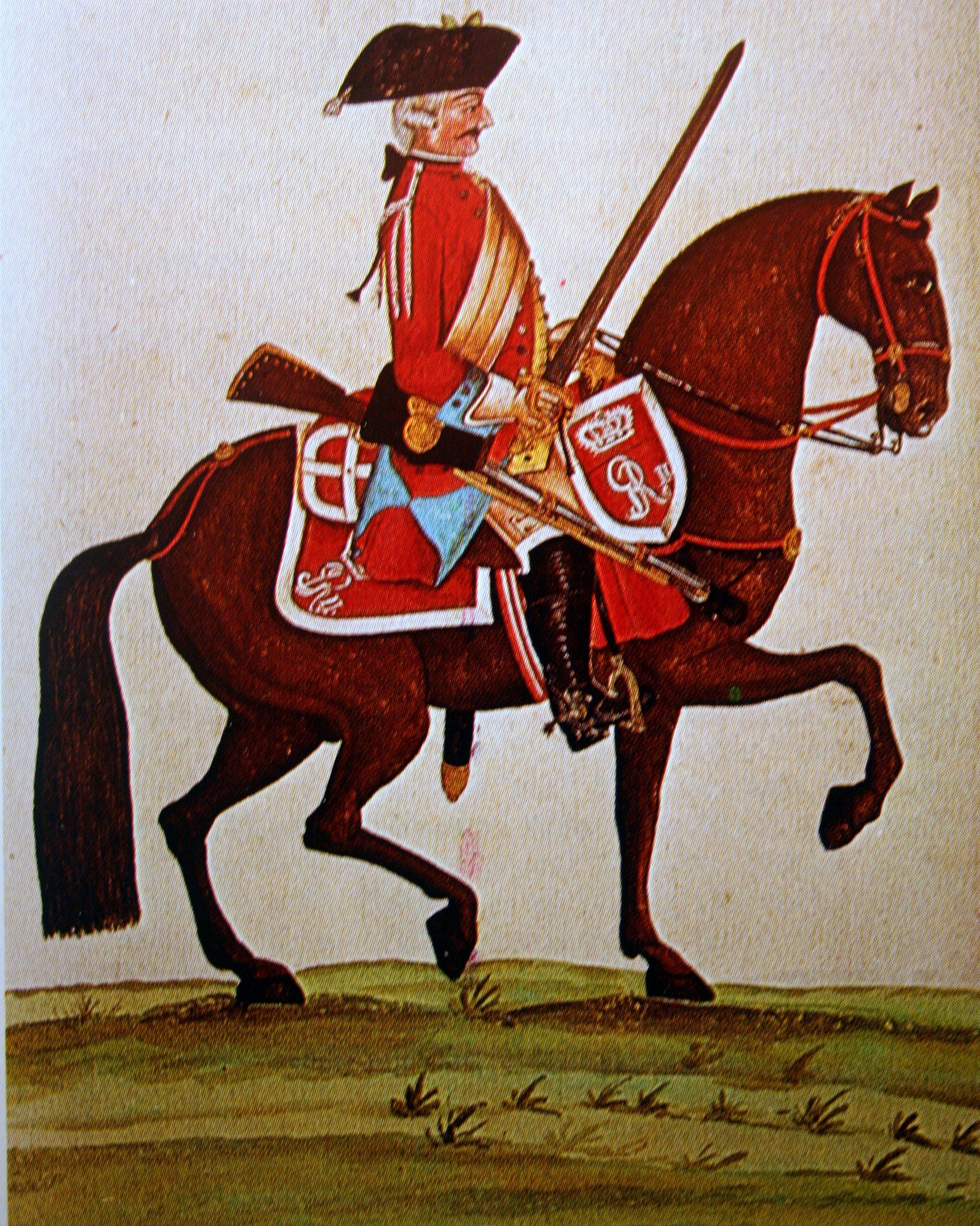 File:Kurhannoversche Legion Britannique 1761 - Dragoner 4. Eskadron  Gmundener Prachtwerk.JPG