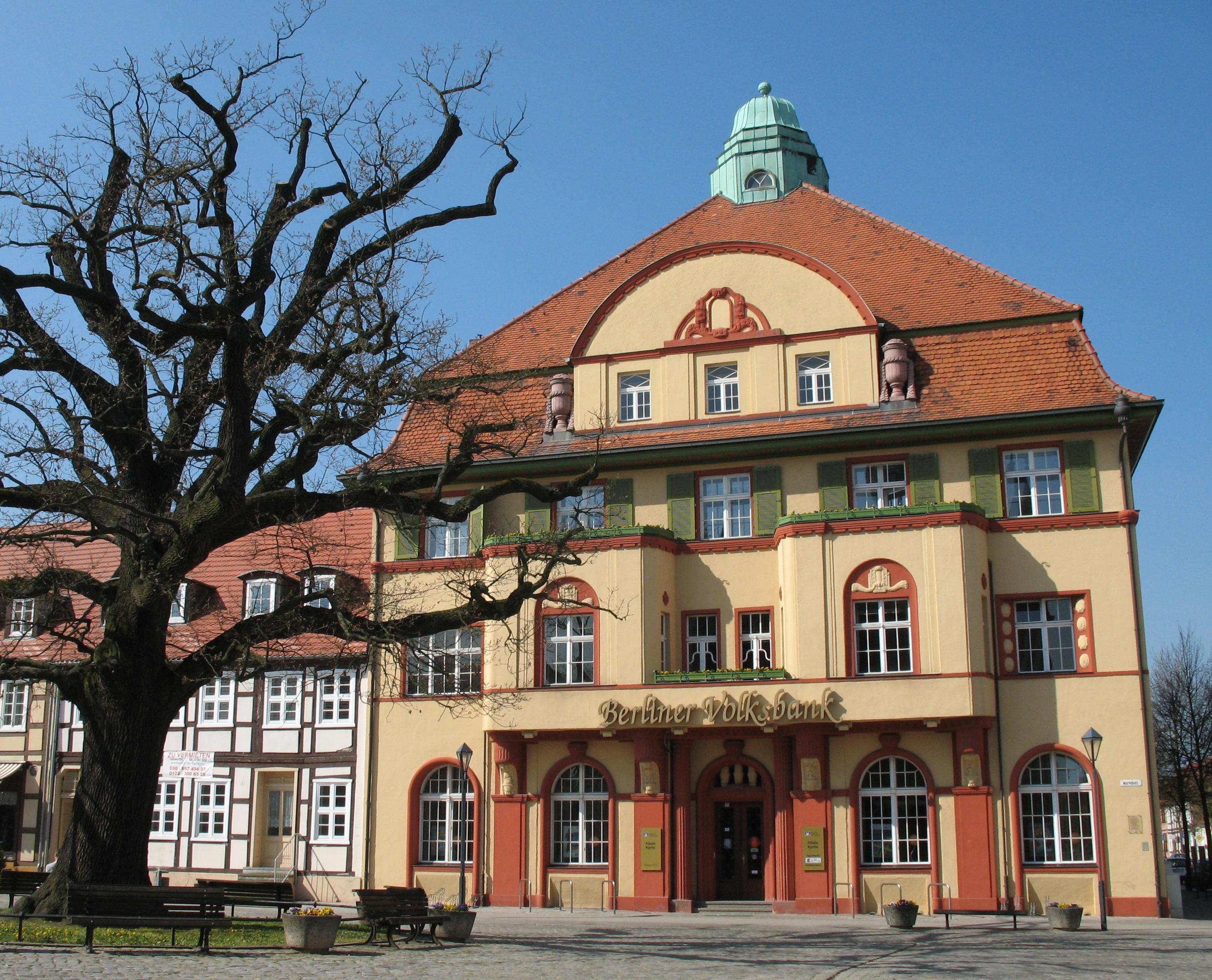 Kyritz Germany  city photo : Kyritz Berliner Volksbank Wikimedia Commons