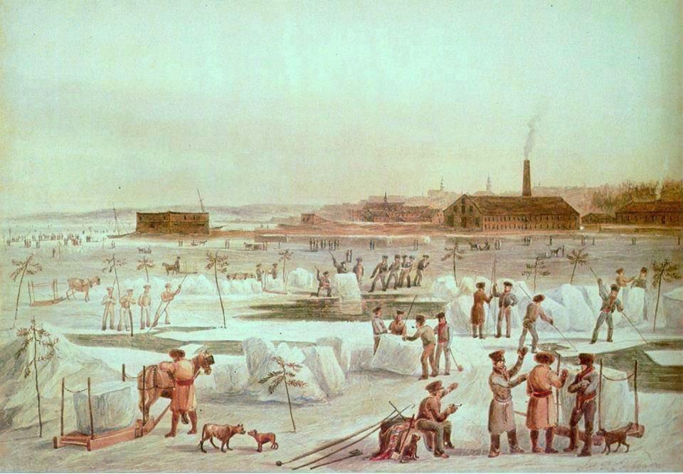 Filela Coupe De La Glace Vers 1830 Aquarelle De James