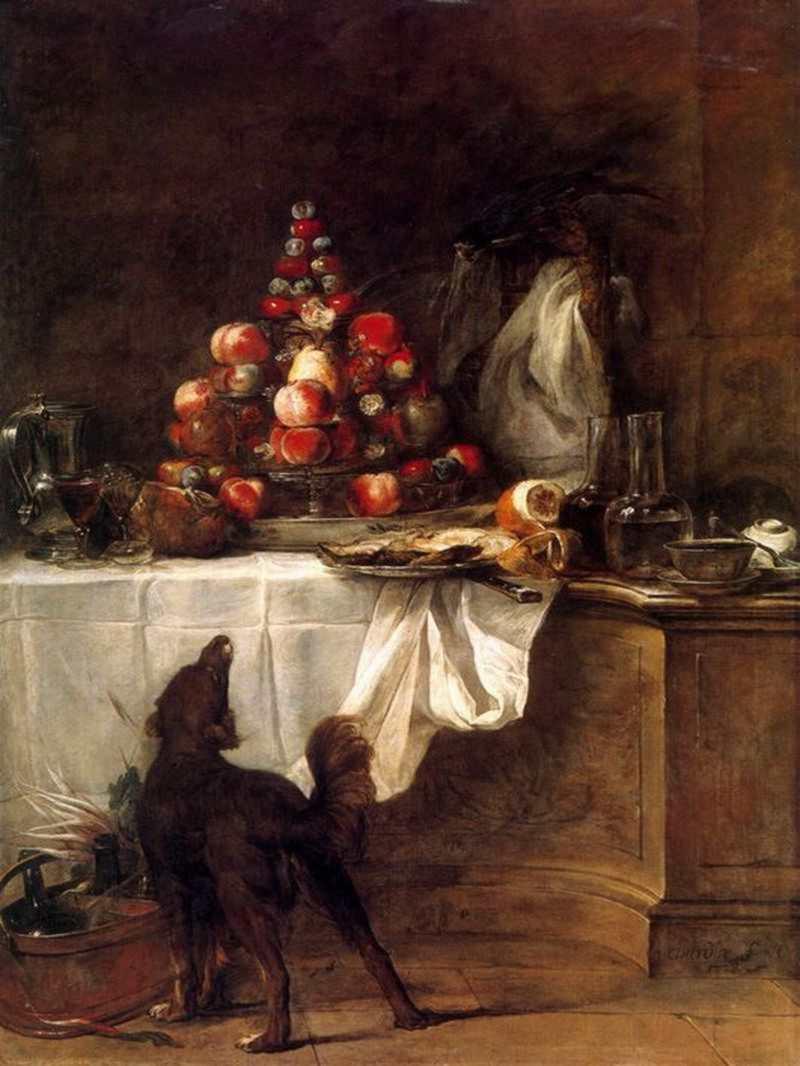 - El bufett - Jean Baptiste Siméon Chardin 1728