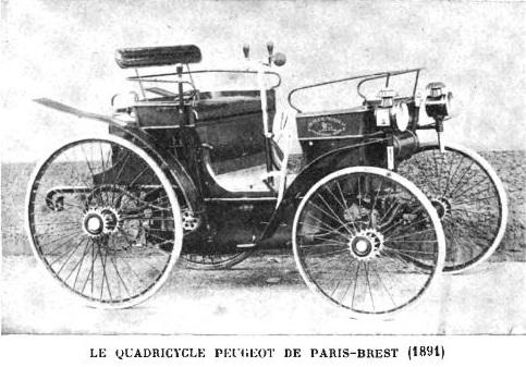 file le quadricycle peugeot de paris brest paris en 1891 pilot par rigoulot ing nieur et. Black Bedroom Furniture Sets. Home Design Ideas
