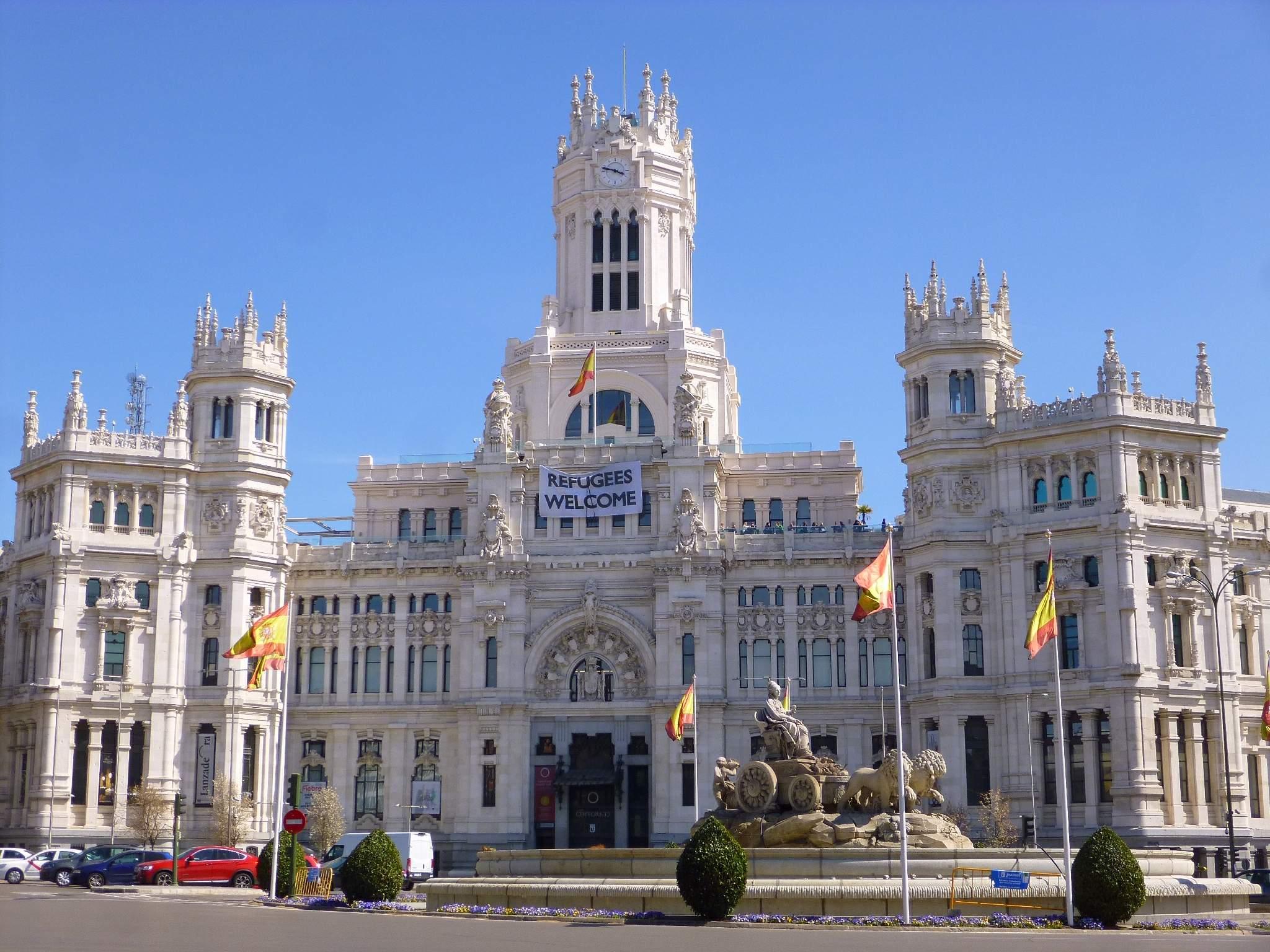 File Madrid Plaza De La Cibeles Y Palacio De