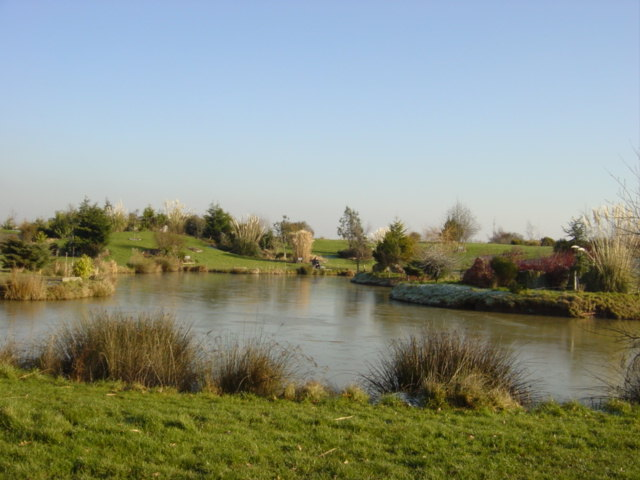 Description Manmade fishing pond, Larton  geograph.org.uk  114987