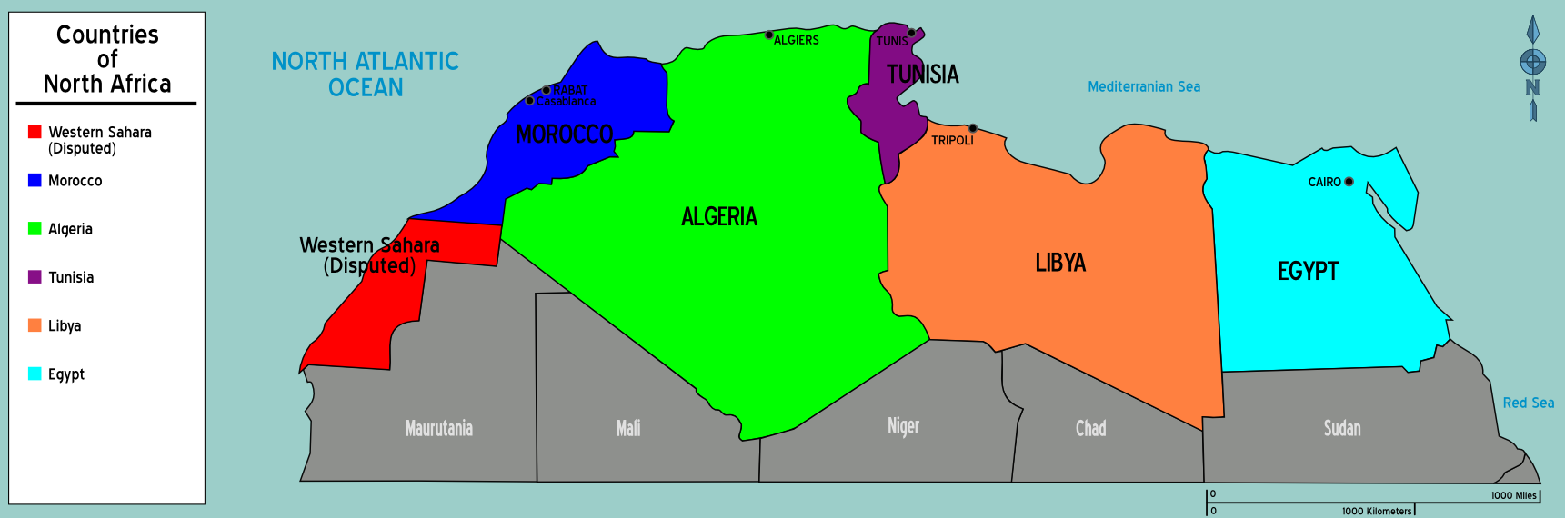 north africa map region