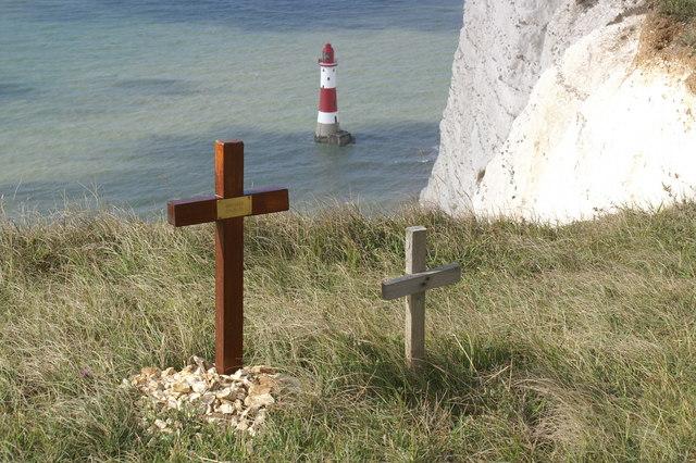 Memorials at Beachy Head - geograph.org.uk - 223929
