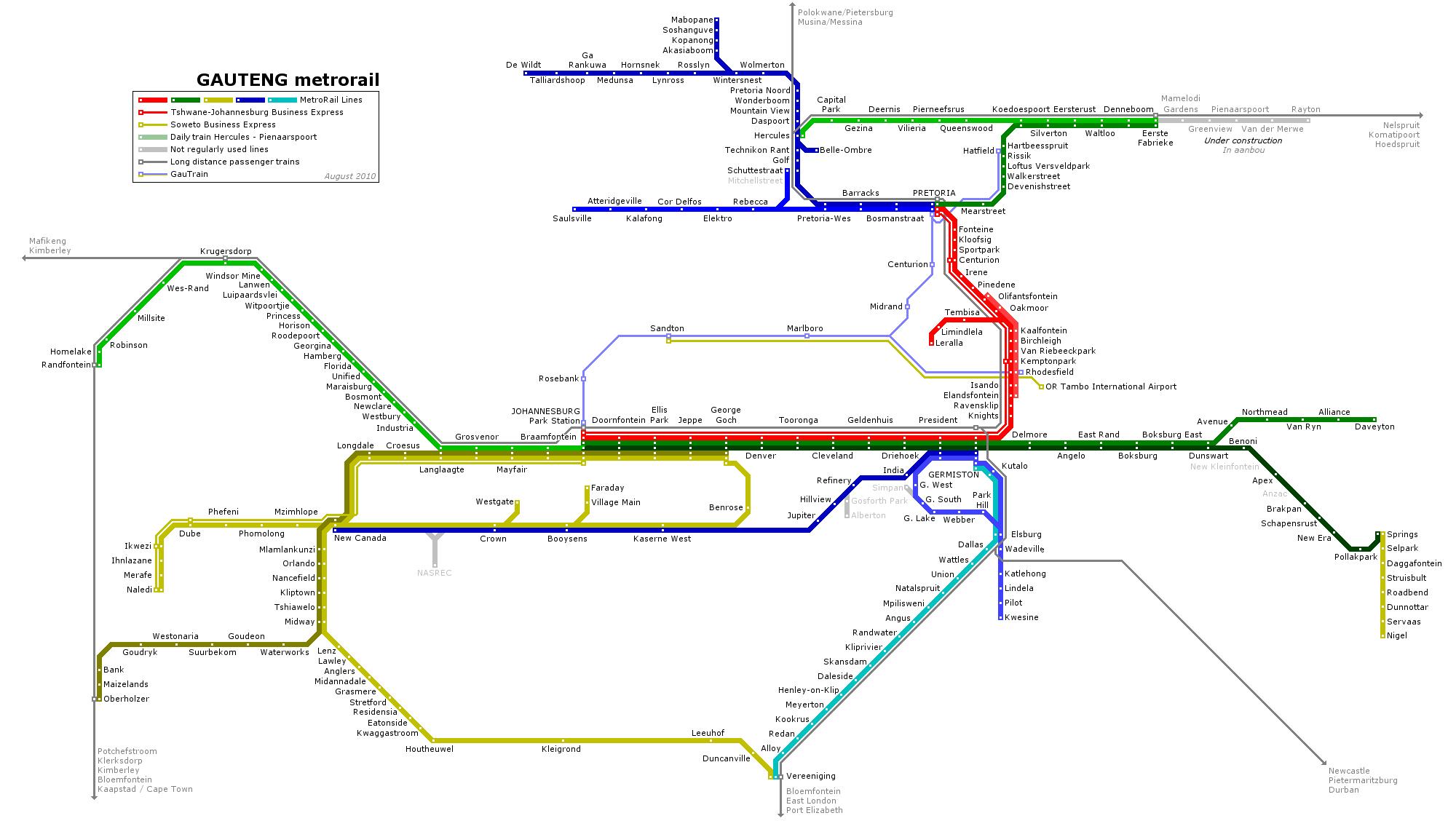 Johannesburg Subway Map