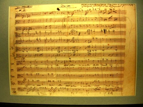 mozart handwriting