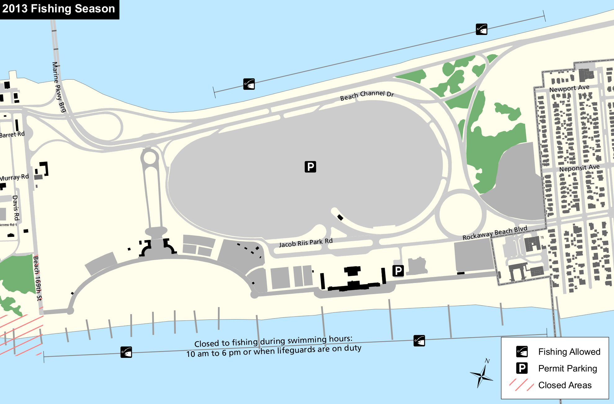 A Map Of Jacob Riis Park