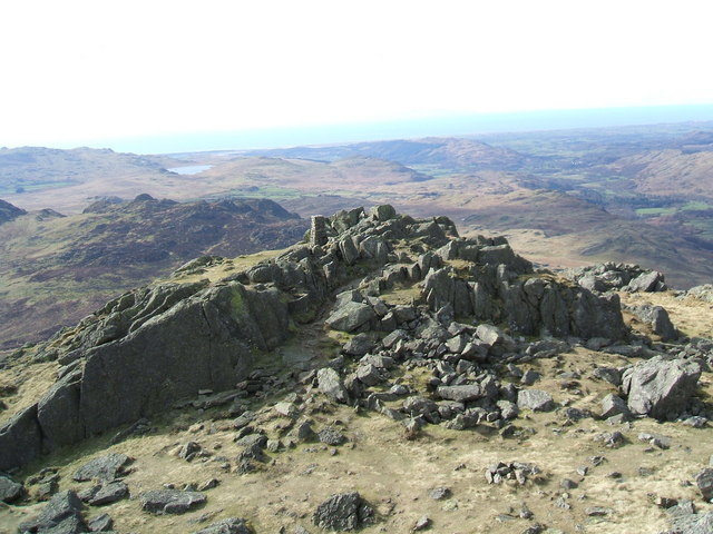 O.S. Pillar from the summit of Harter Fell - geograph.org.uk - 730850