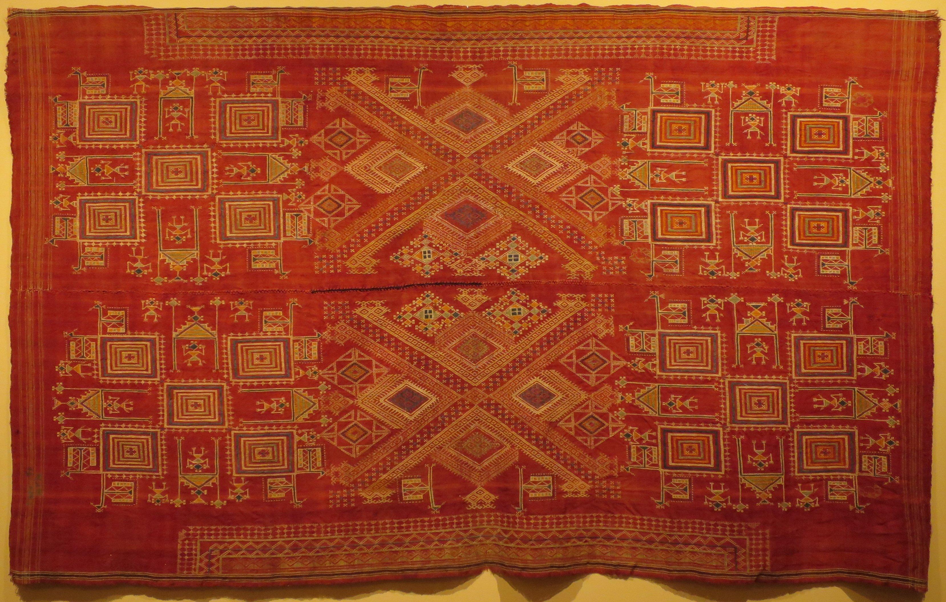 File:Ohdani (wedding shawl), India, Rajasthan, Bikaner, 19th century