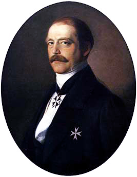 Otto von Bismarck as Minister President of Prussia, shown wearing insignia of a knight of the Johanniterorden Otto+von+bismarck.jpg