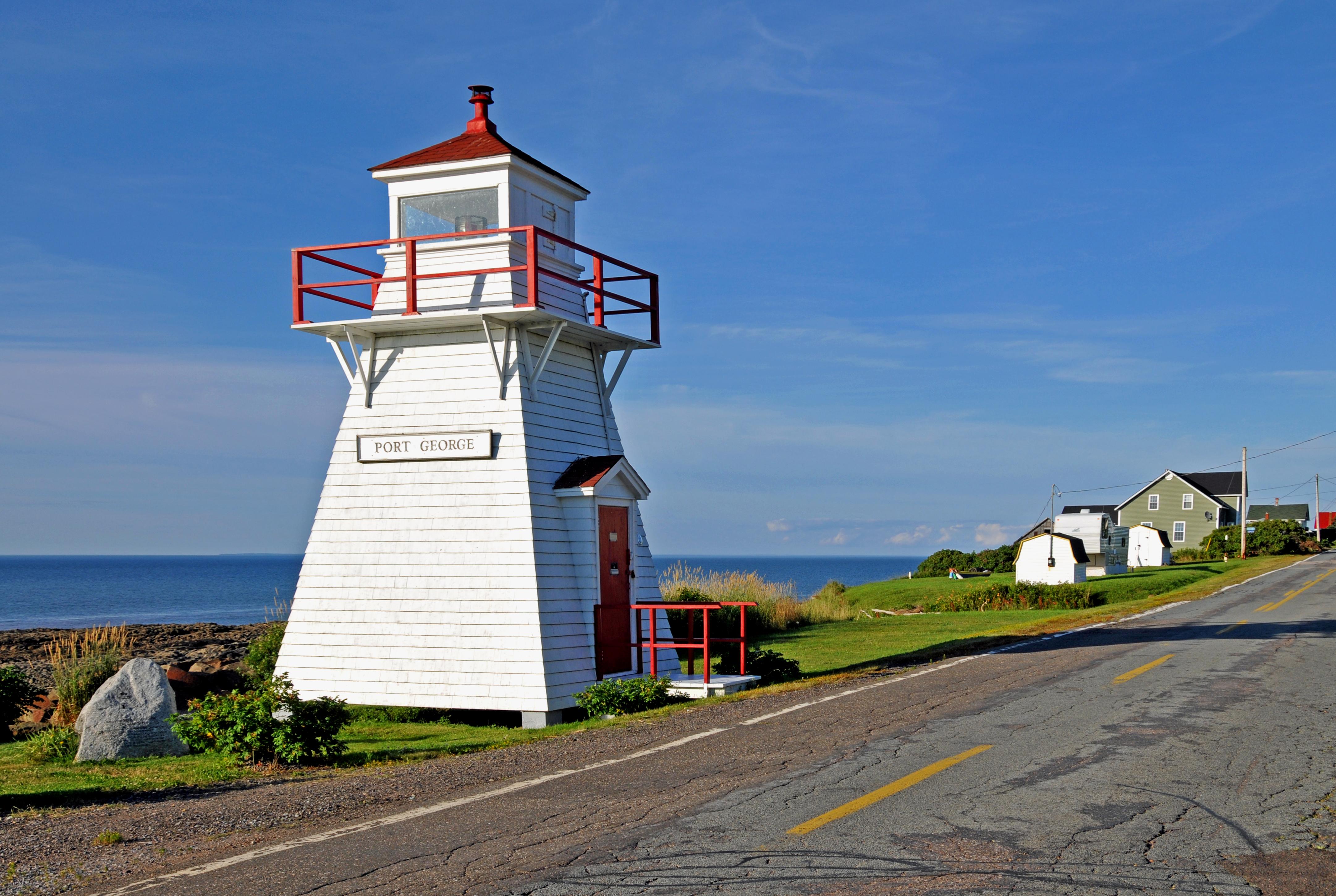 File Port George Lighthouse Jpg Wikimedia Commons