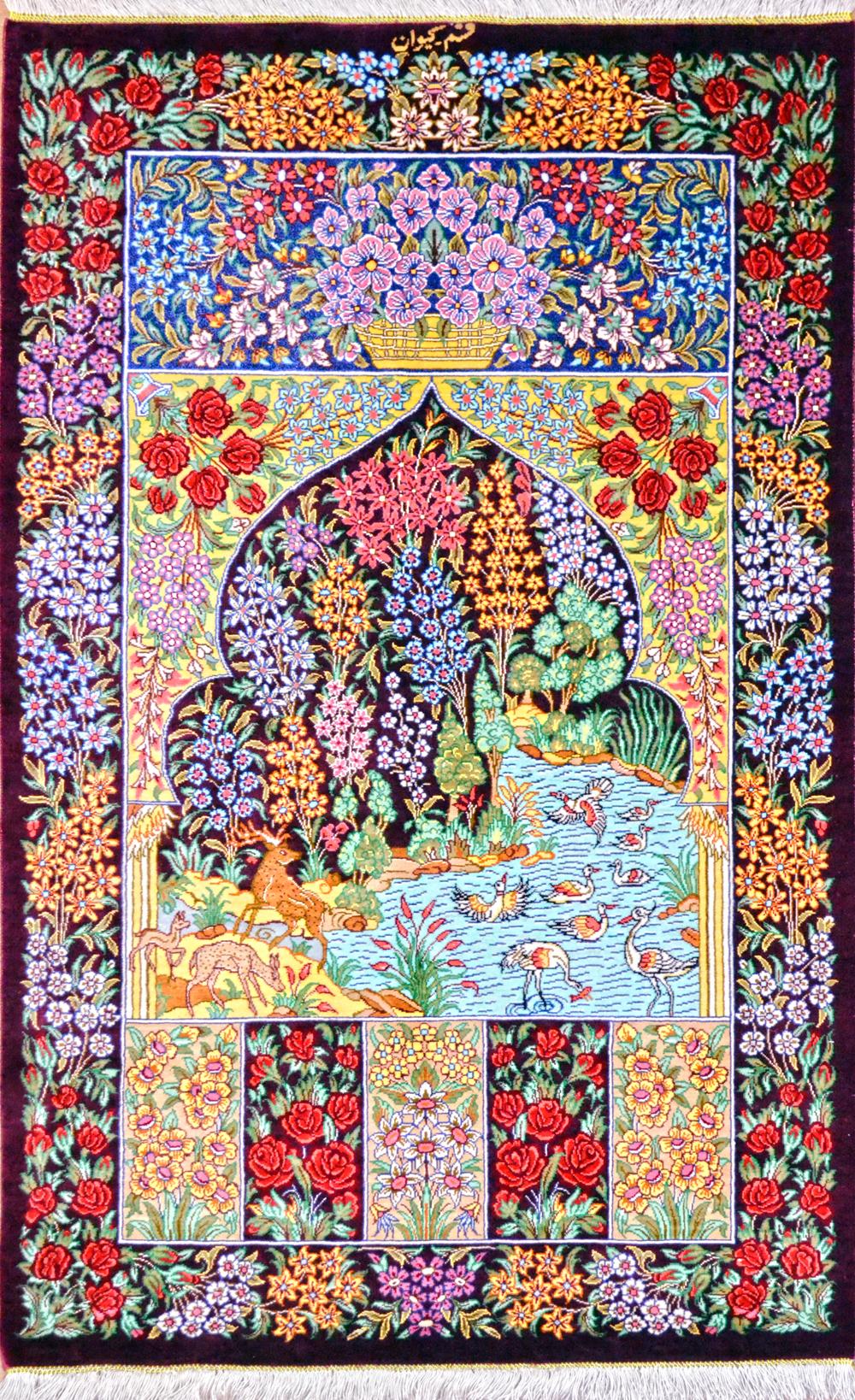 File Qum Silk Persian Rug Life Jpg