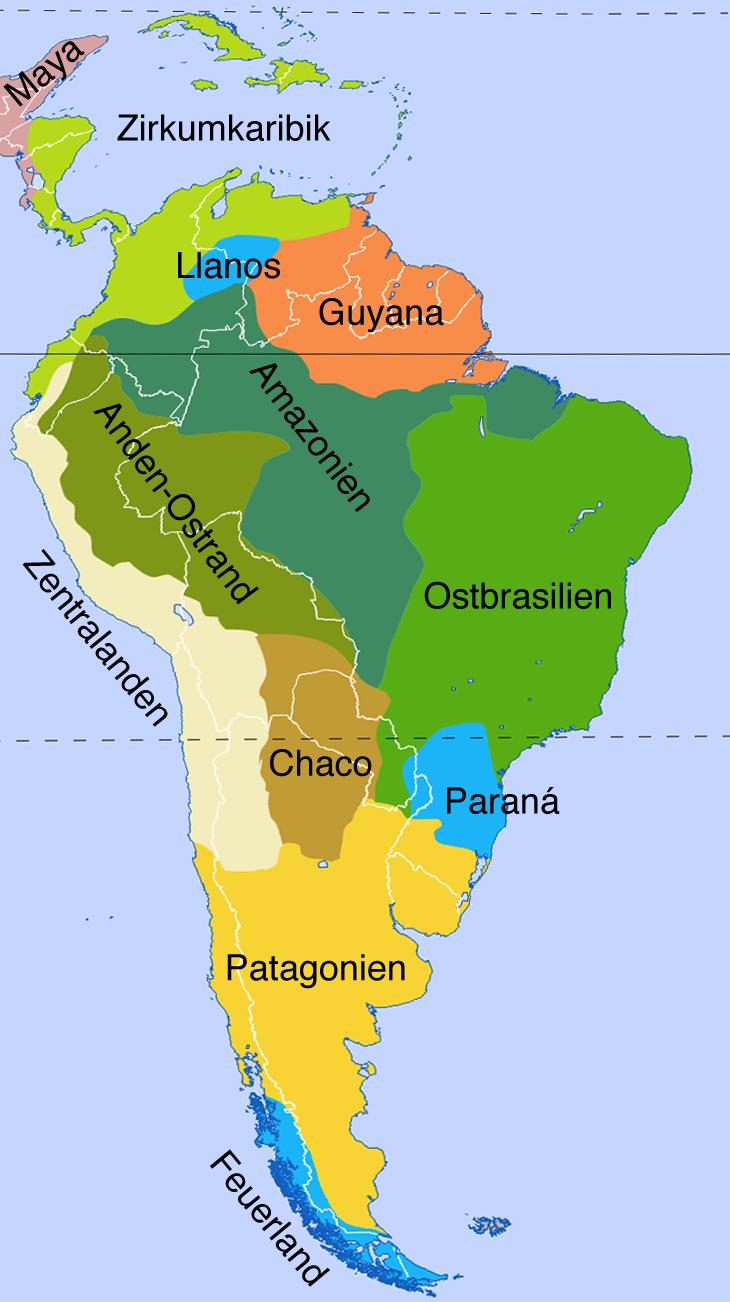 Land Und Themenkarten Von Sudamerika Maps Of South America
