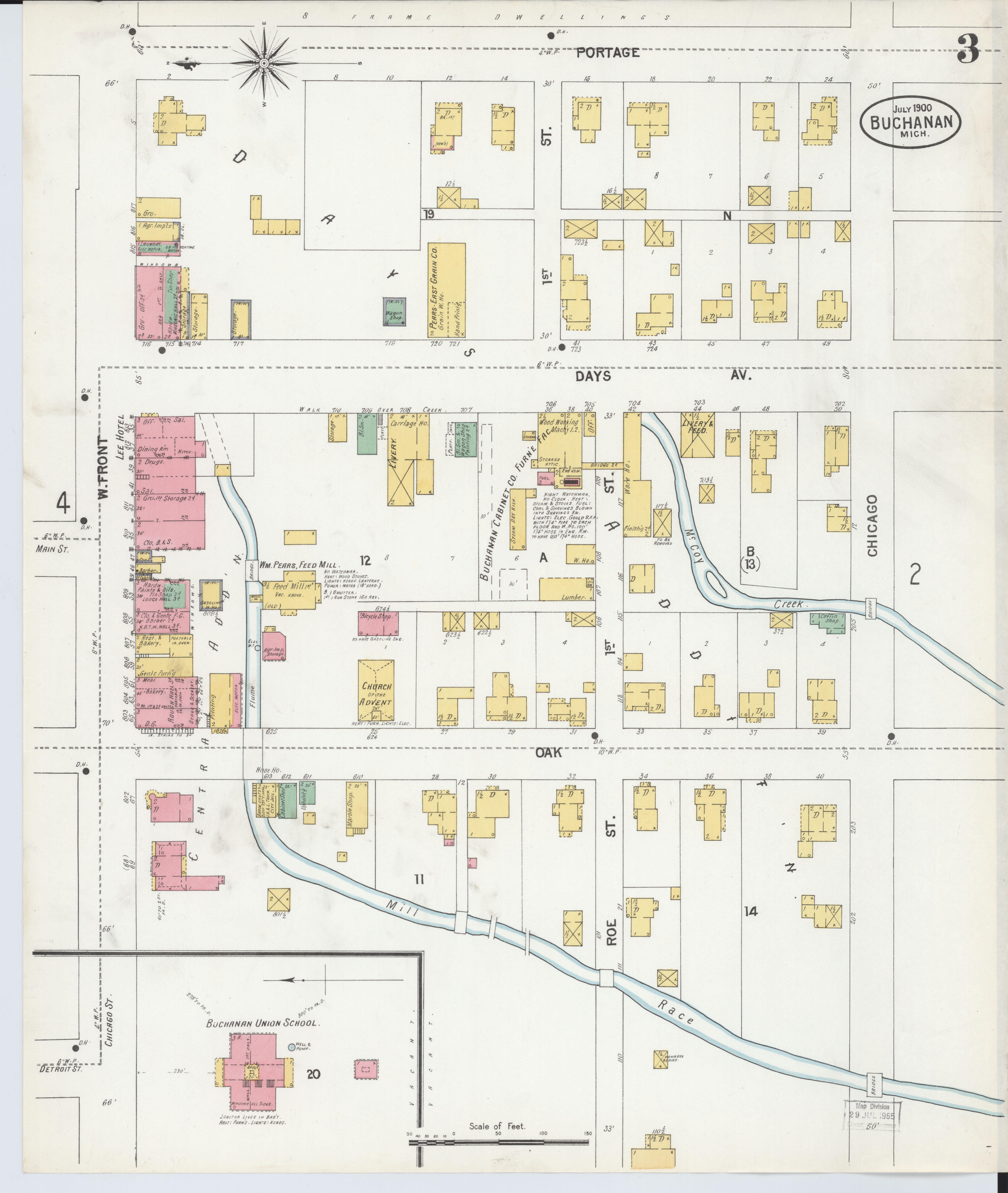 Buchanan Michigan Map.File Sanborn Fire Insurance Map From Buchanan Berrien County