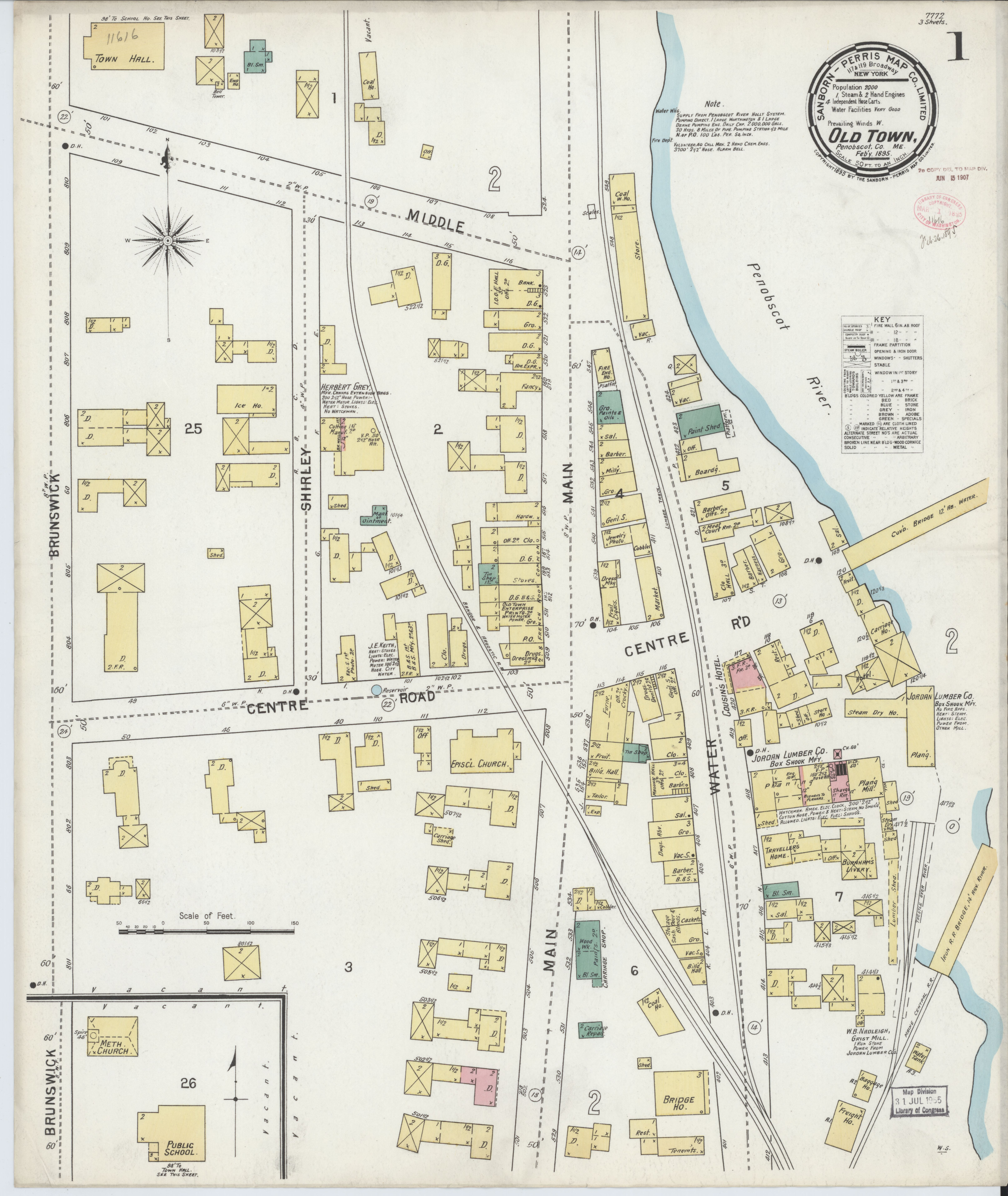 Old Maine Map.File Sanborn Fire Insurance Map From Old Town Penobscot County