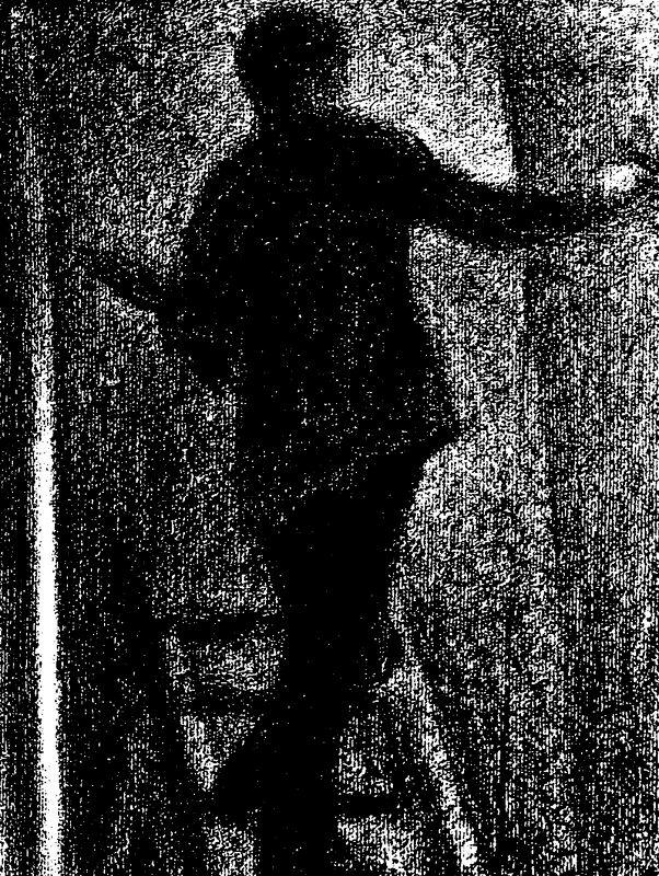 Desenho de Georges Seurat de 1884