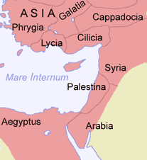 The Roman provinces of Syria, Palestina, and Arabia Southeastern Roman Empire.PNG