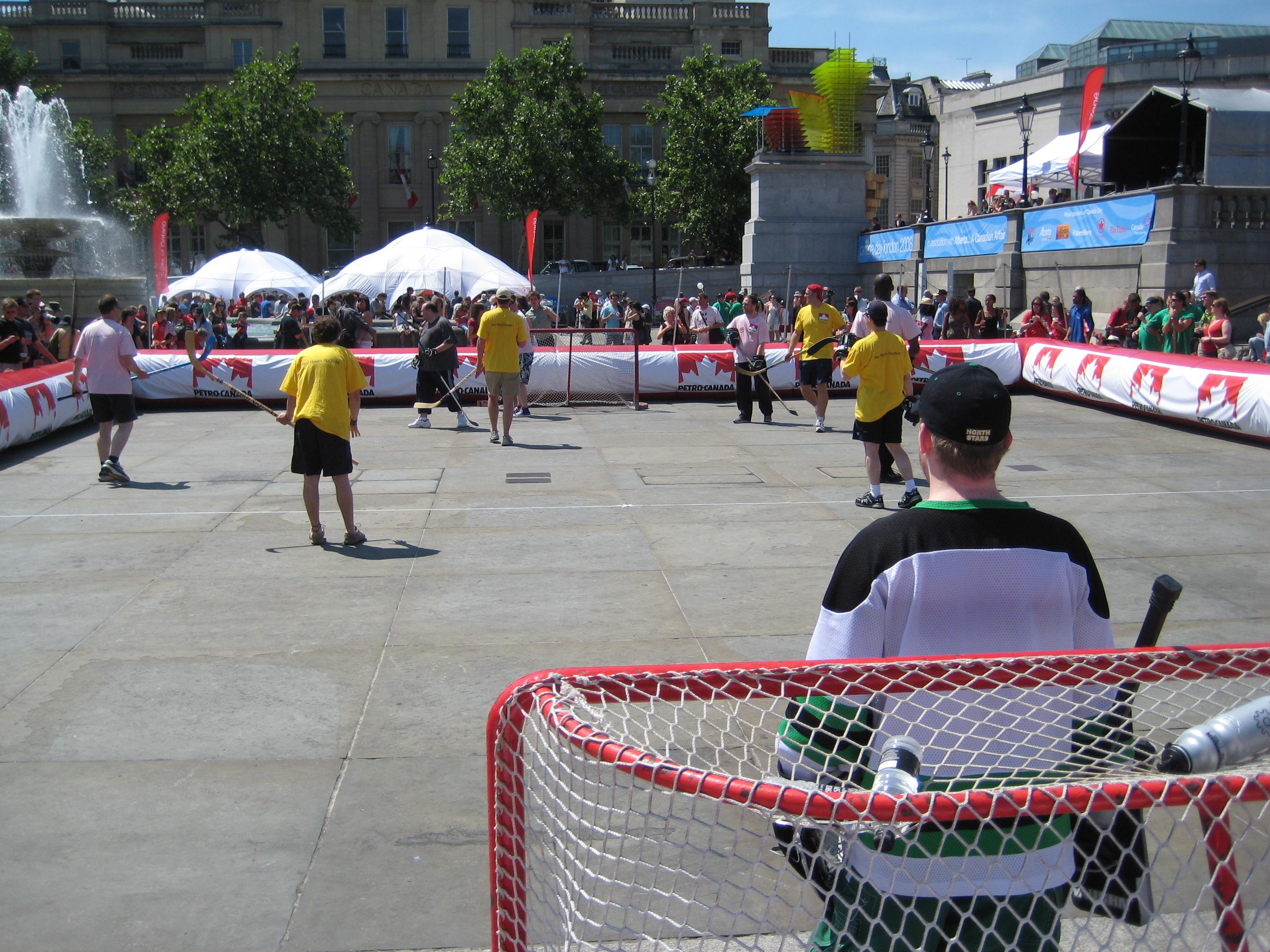 File Street Hockey Jpg Wikimedia Commons