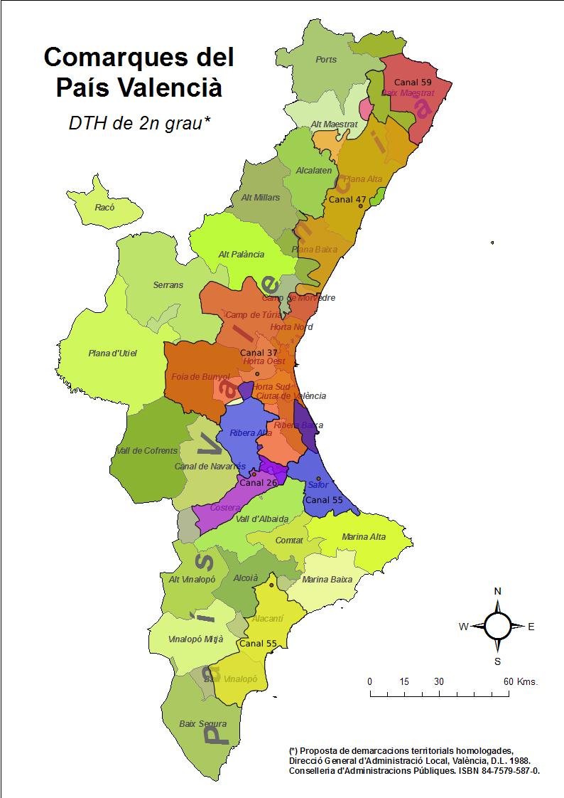 Mapa de cobertura de tvc en tdt al pa s valenci juan - Internet en valencia ...
