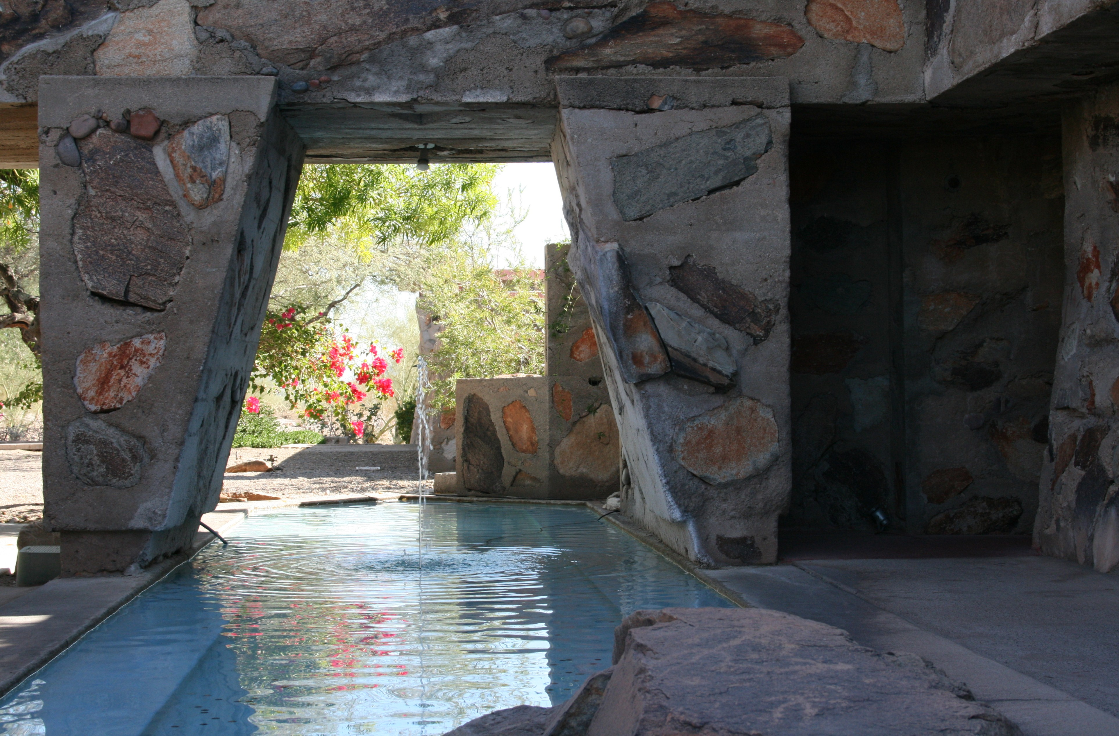 K Residence Floor Plan File Taliesin West Pool Amp Fountain Jpg Wikimedia Commons