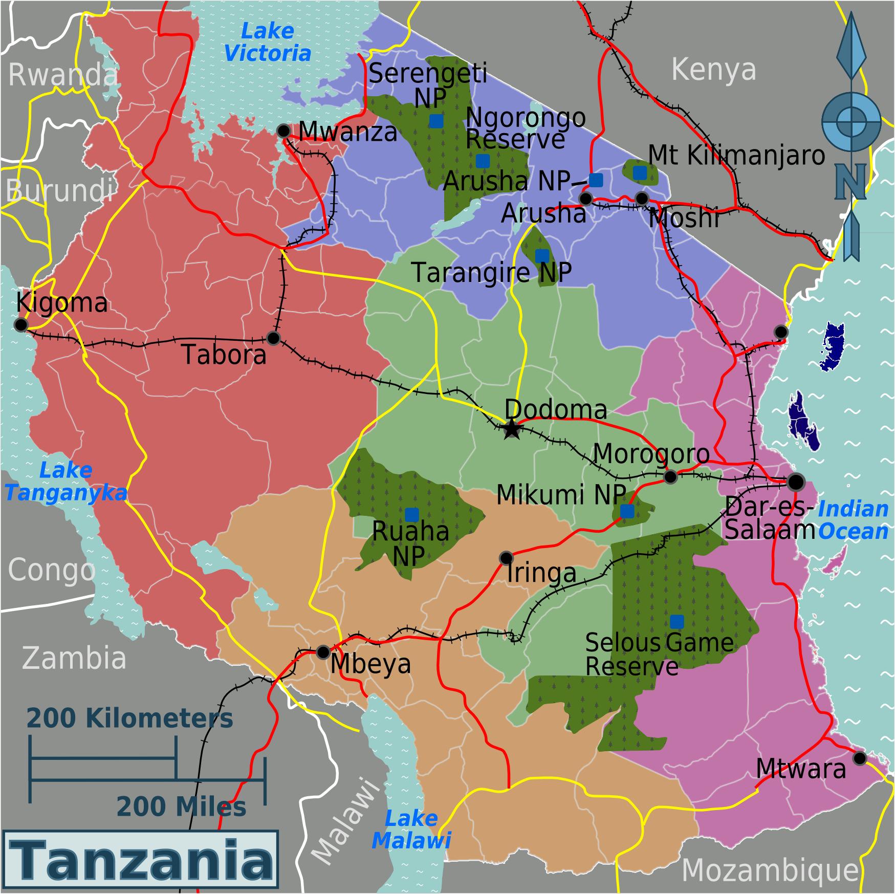 FileTanzania Regions Mappng Wikimedia Commons - Map of tanzania