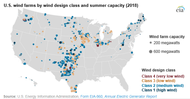 wind power map united states List of wind farms in the United States   Wikipedia