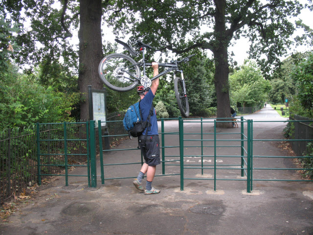 Up and over - cycle barrier in Greenwich Park - geograph.org.uk - 951419