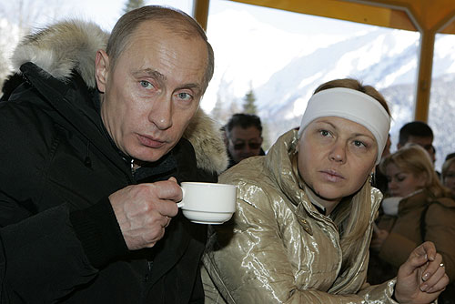 Vladimir Putin, seen in the company of the Composure Class.