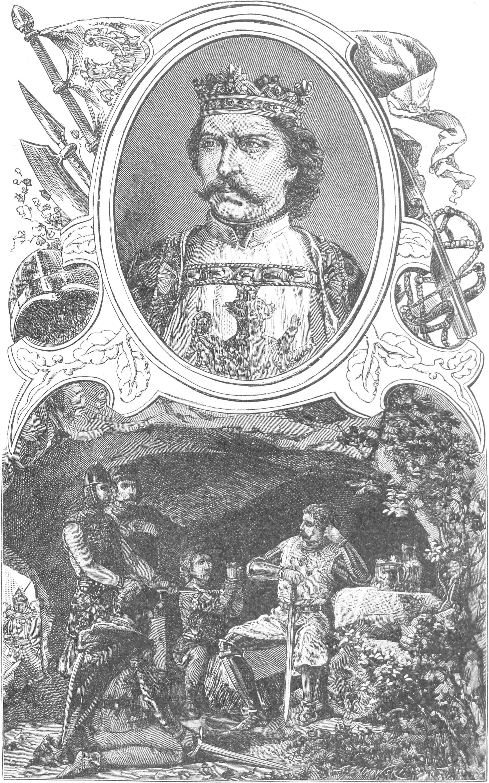 """ilustracja z książki """"Wizerunki książąt i królów polskich"""" Ksawery Pilati (1843-1902)"""