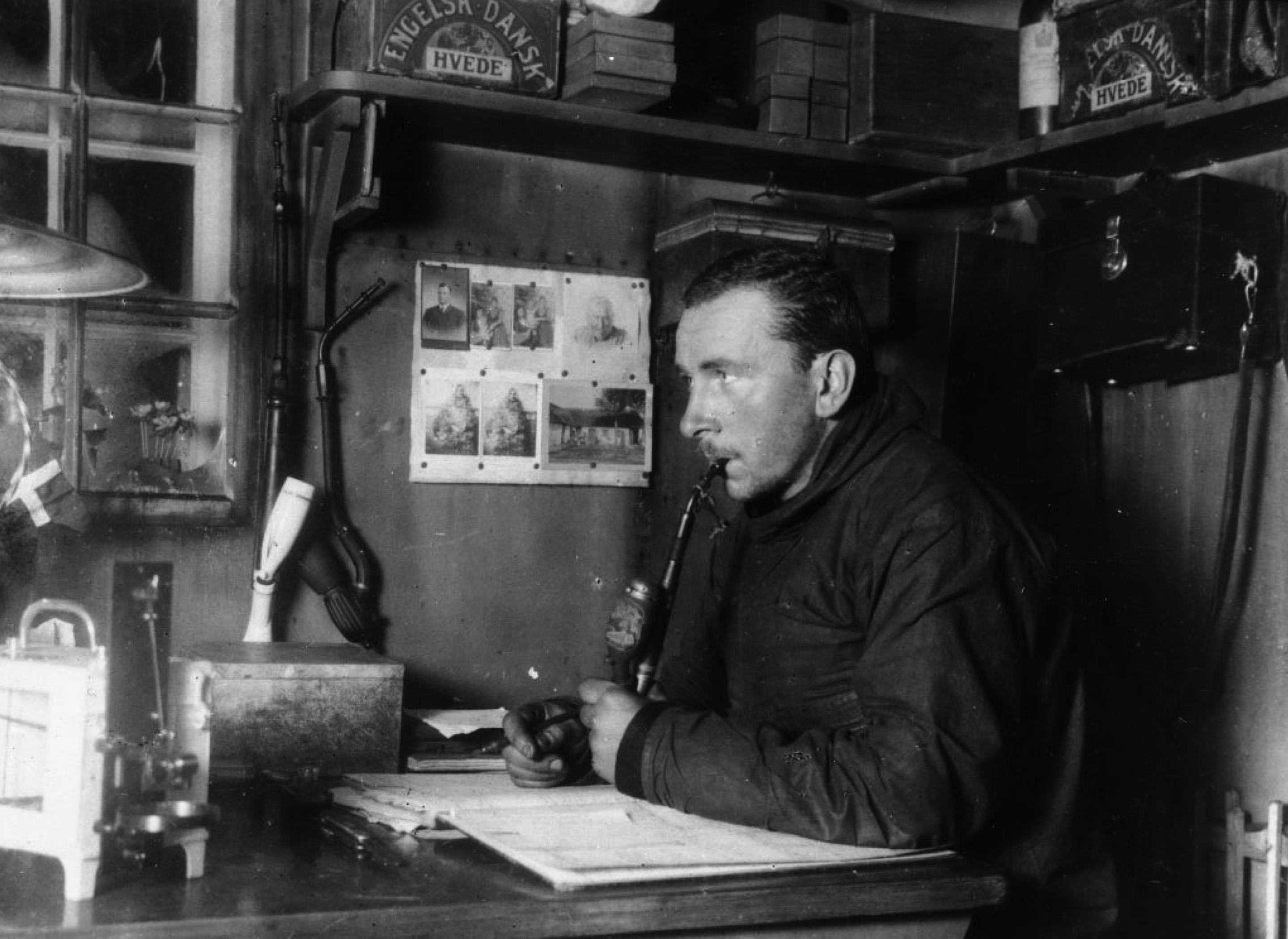 Alfred Wegener during a 1912-1913 expedition to Greenland. [Source: Alfred Wegener Institute (Public domain)]