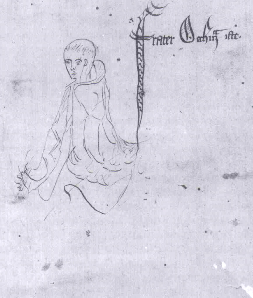 Medieval manuscript sketch of William of Ockham