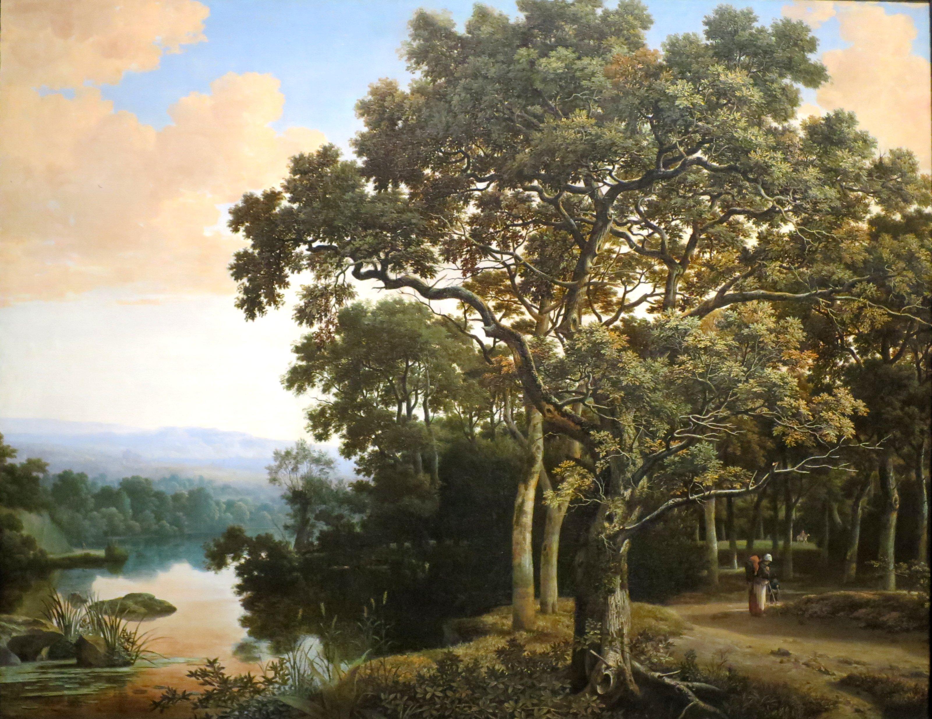 File Wooded Landscape With Travelers By Joris Van Der