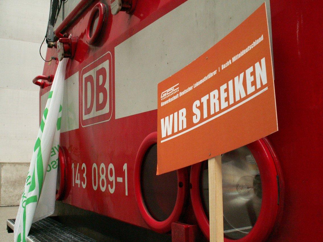 Bahnstreik in Leipzig. Foto: bigbug21 / Wikimedia Commons (CC BY-SA 2.5)