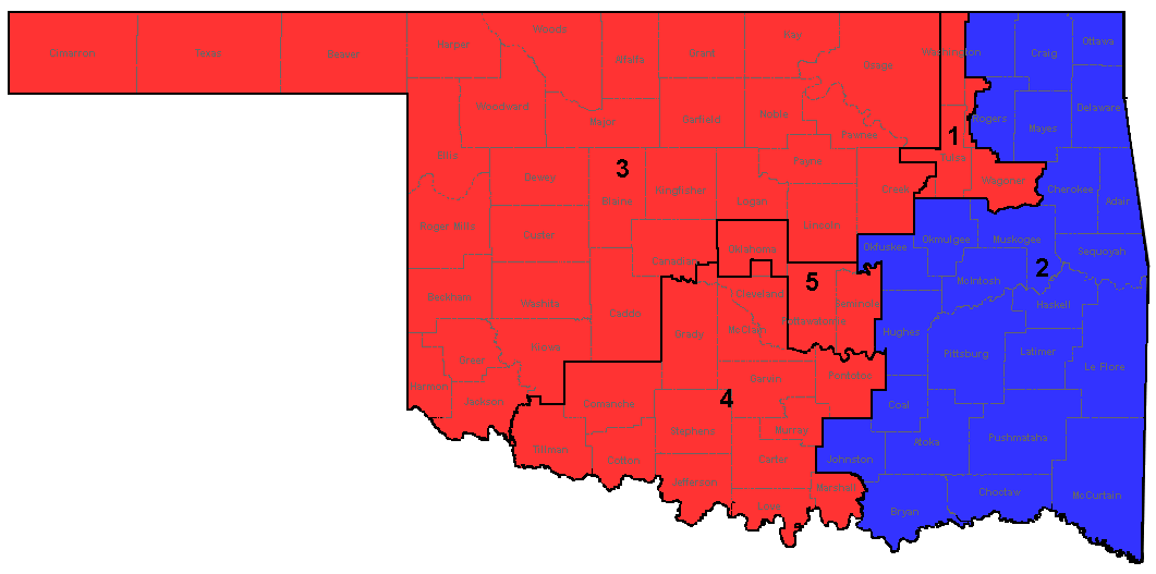File Oklahoma Congressional Districts Resultspng Wikimedia - Us house of representatives oklahoma district map