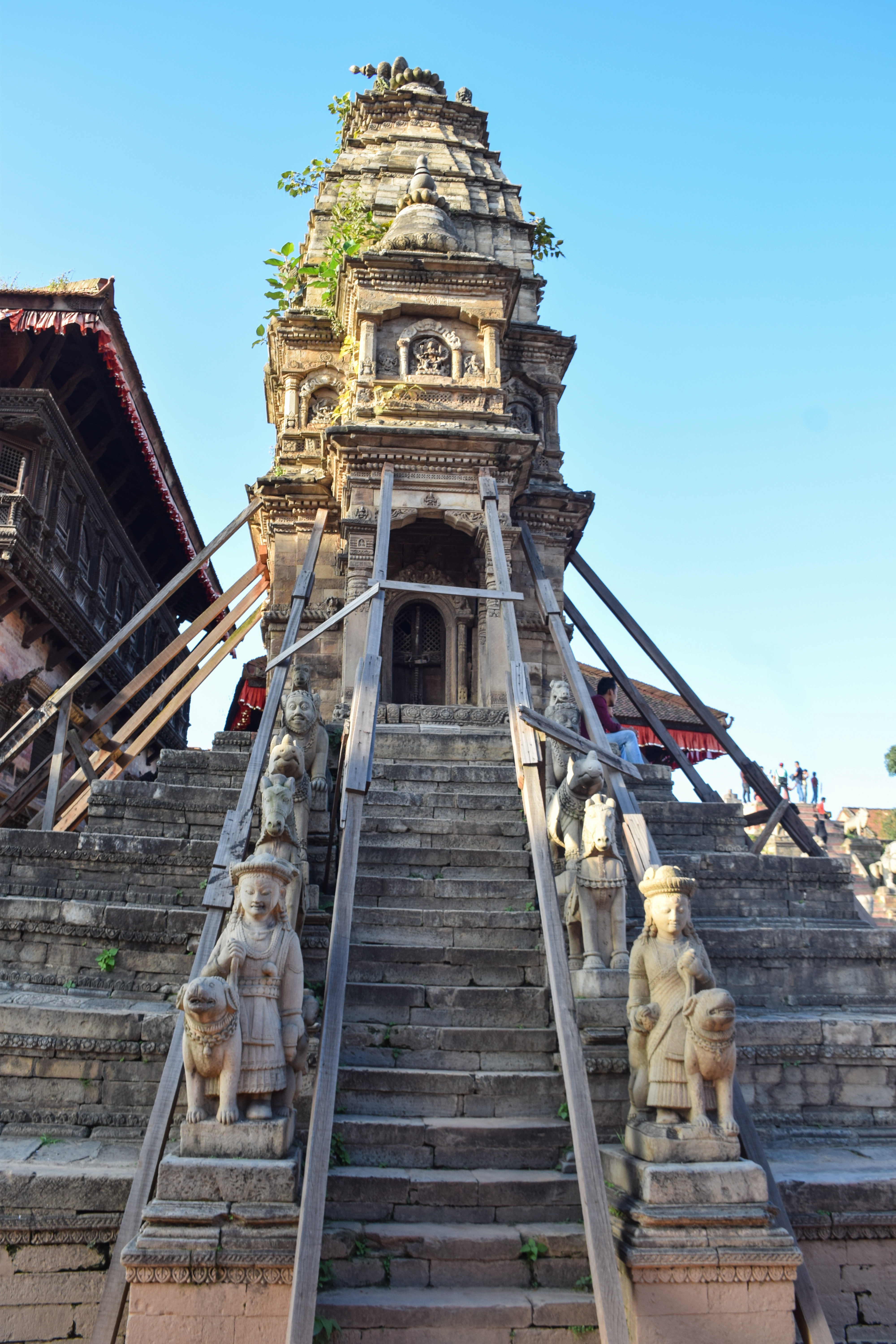 A Renovating Temple At Bhaktapur.jpg This file has no , and may be lacking other information. Please provide a meaningful