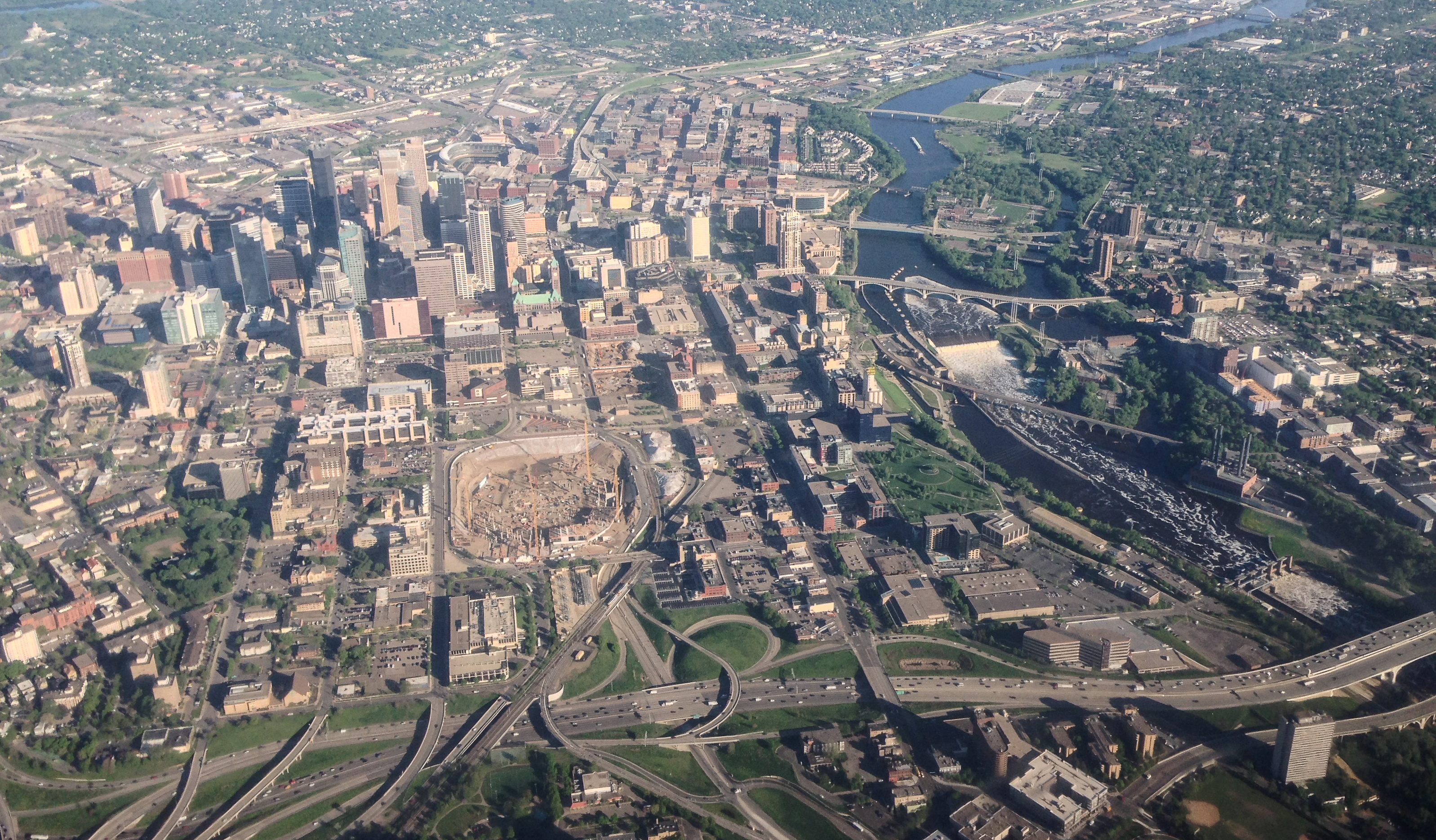 File:Aerial Minneapolis, Metrodome Deconstruction, and Mississippi River (17405703595).jpg ...